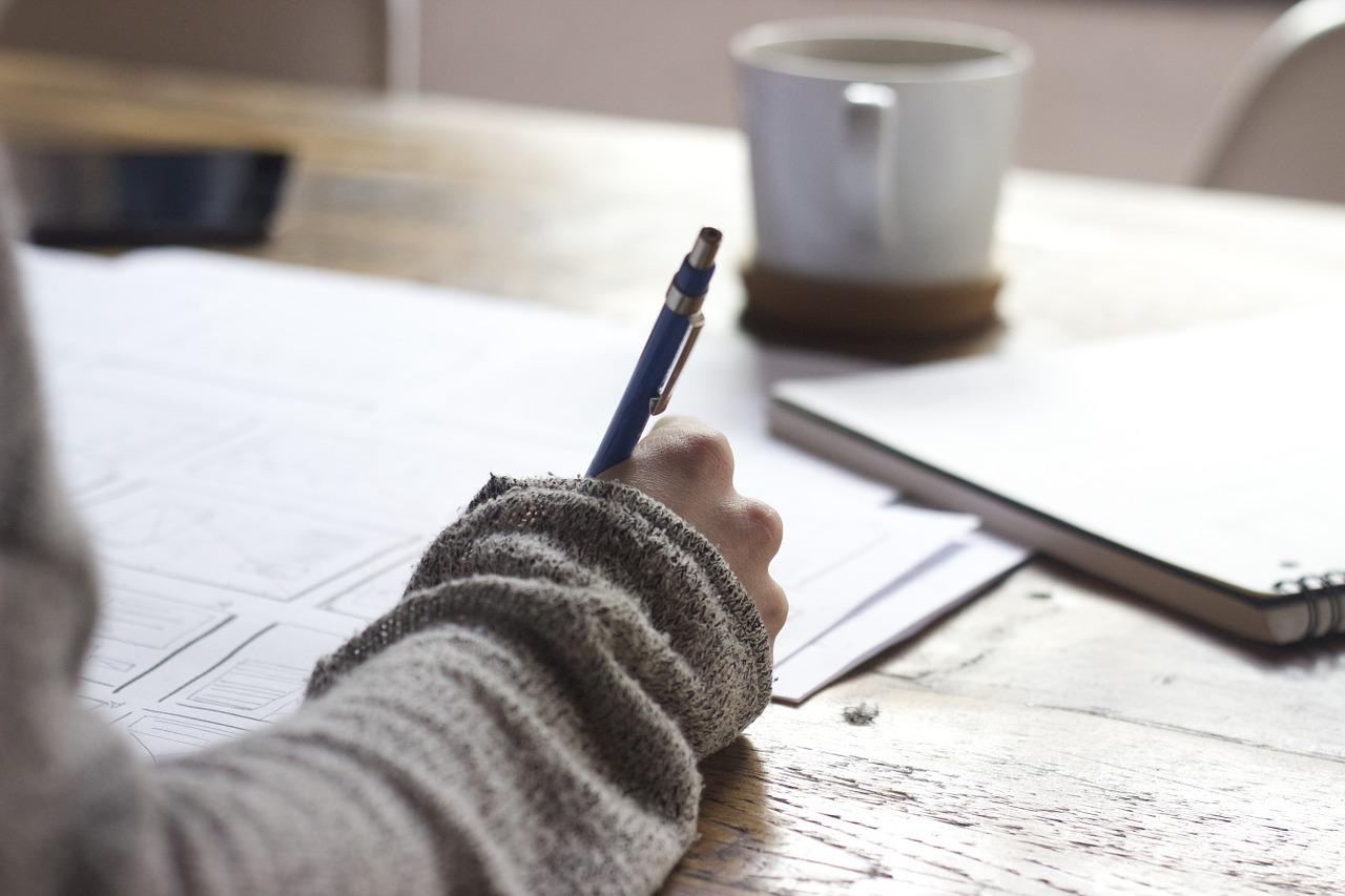 Person Writing - Pub Domain