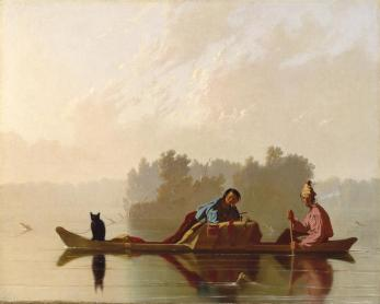 bingham-fur-traders-descending-missouri-1845